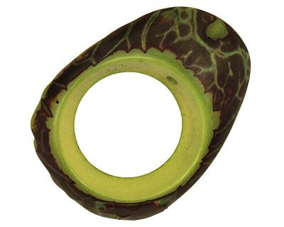 Tagua Nut Apple Open Slice 33-45x24-36mm