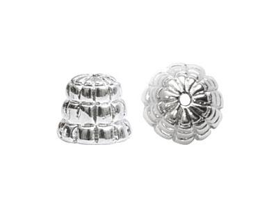Nunn Design Sterling Silver (plated) Sea Hive Bead Cap 10x12mm