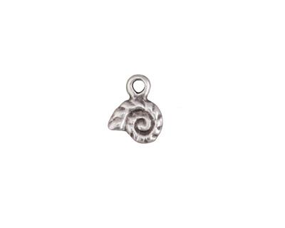 Greek Pewter Tiny Nautilus Charm 9x11mm