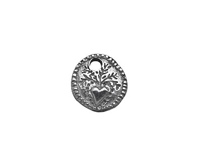Mamacita Beadworks Pewter Dutch Sprout Charm 13mm