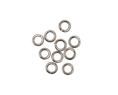 Gunmetal Round Jump Ring 4mm, 18 gauge