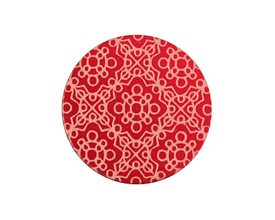 Lillypilly Red Baroque Anodized Aluminum Disc 25mm, 24 gauge
