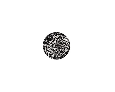 Lillypilly Black Dahlia Anodized Aluminum Disc 11mm, 22 gauge