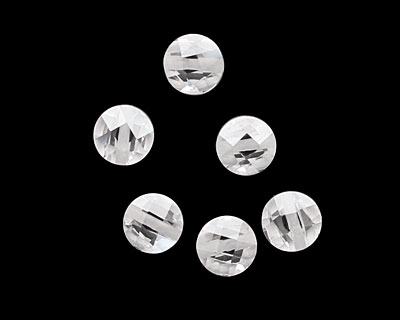 Crystal Clear Faceted Coin 6mm