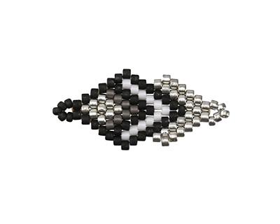 Monochromatic Hand Woven Double Diamond 28x13mm