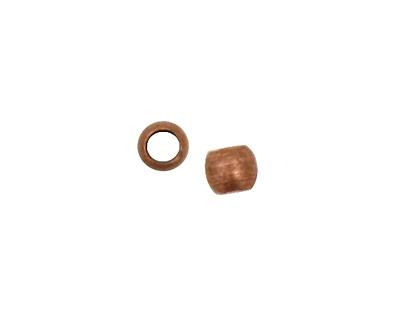 Antique Copper (plated) Round Crimp Bead 2mm
