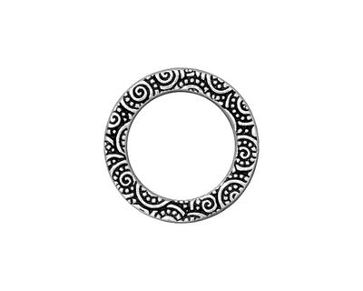 TierraCast Antique Silver (plated) Large Spiral Ring 19mm