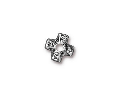 TierraCast Antique Pewter (plated) Cross Rivetable 11mm
