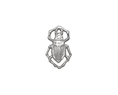 Ezel Findings Rhodium (plated) Water Bug 10x11mm