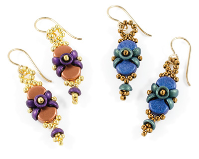 Buttons & Bows Earrings Pattern