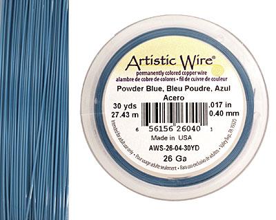 Artistic Wire Powder Blue 26 gauge, 30 yards