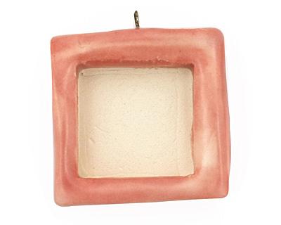 Jangles Ceramic Pink (matte) Square Bezel 28-29x31-32mm