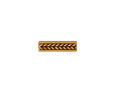 TierraCast Antique Gold (plated) Braided 3-Hole Bar 4x14mm