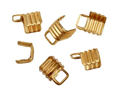 Brass Ridged Foldover Crimp End 11x8mm