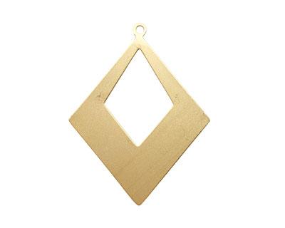 Brass Open Diamond Drop Blank 40x52mm