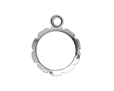 Artistic Wire Silver (plated) Round Wrapper 20x24mm