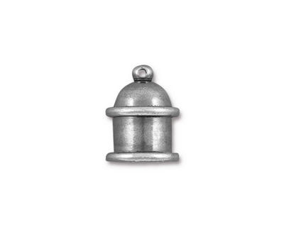 TierraCast Antique Tin (plated) Pagoda 8mm Cord End 15.5x12mm