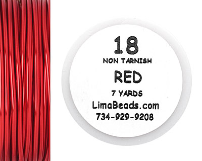 Parawire Red 18 Gauge, 7 yards
