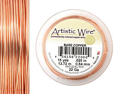 Artistic Wire Bare Copper 22 gauge, 15 yards