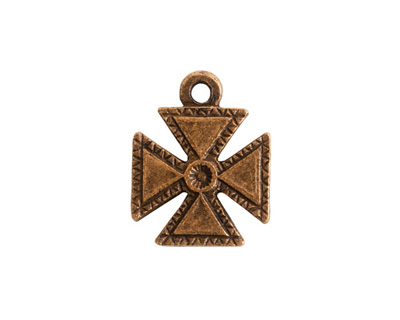 Nunn Design Antique Gold (plated) Patee Cross Charm 16x20mm