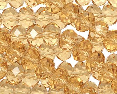 Light Topaz Crystal Faceted Rondelle 8mm