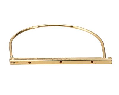 Gold (plated) Hinged Opening Bangle Bracelet 43x53mm