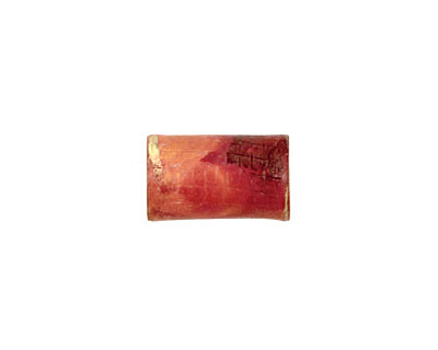Patricia Healey Copper Quilted Tube 16x10mm