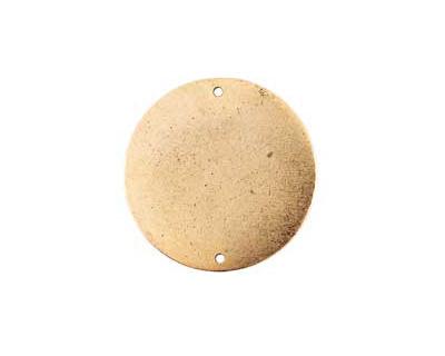Nunn Design Antique Gold (plated) Flat Grande Circle Tag Link 31mm