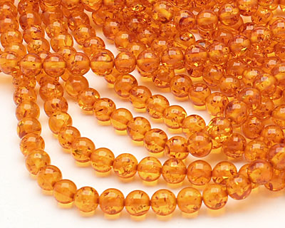 Medium Resin Amber Round 8mm