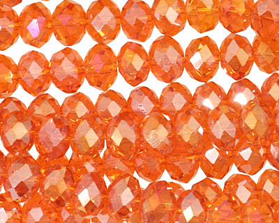 Nectarine AB Crystal Faceted Rondelle 8mm