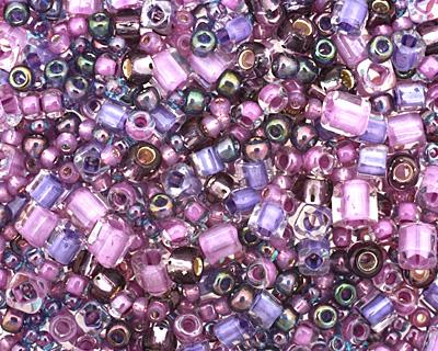 TOHO Kawaii Purple/Green Seed Bead Mix