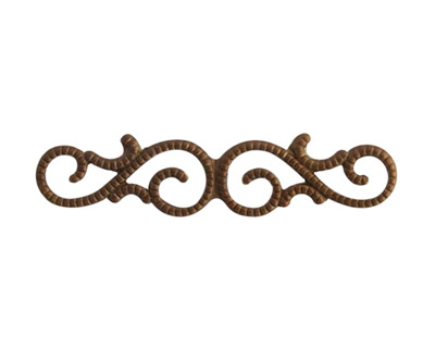 Vintaj Natural Brass Scrollwork 39x9mm