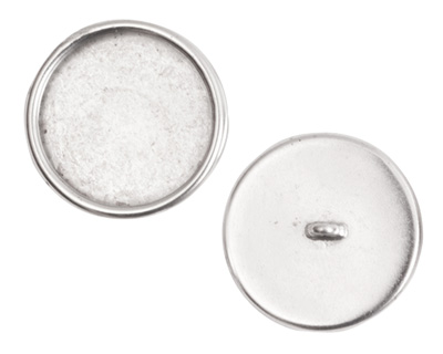 Nunn Design Antique Silver (plated) Large Circle Frame Button 21mm
