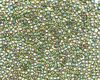 TOHO Transparent Rainbow Olivine Round 11/0 Seed Bead