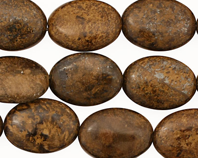 Bronzite Flat Oval 18x13-14mm