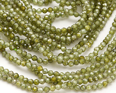 Fern Cubic Zirconia Faceted Round 2mm