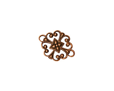 Stampt Antique Copper (plated) Clover Connector 16x12mm