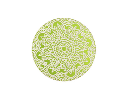 Lillypilly Lime Green Lace Anodized Aluminum Disc 25mm, 24 gauge