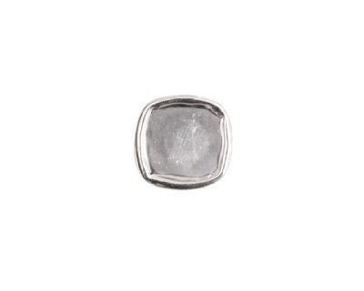 Nunn Design Sterling Silver (plated) Small Square Frame Button 13mm