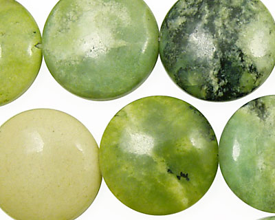 China Chrysoprase Puff Coin 20mm