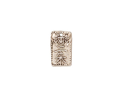 TierraCast Antique Silver (plated) Nisshu Charm 8x13mm