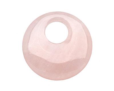 Rose Quartz Off Center Donut 45mm