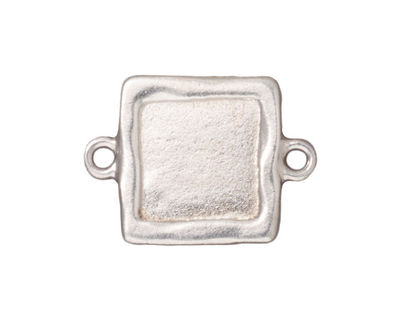 TierraCast Rhodium (plated) Simple Square Link Frame 26x19mm
