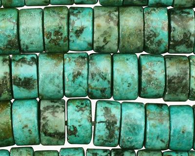African Turquoise Heishi 5x10mm