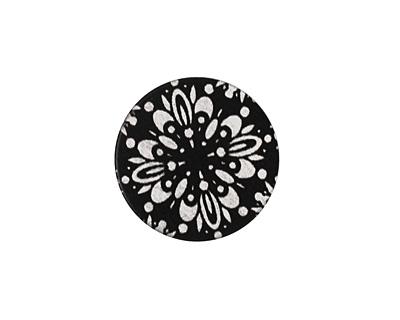 Lillypilly Black Kaleidoscope Anodized Aluminum Disc 19mm, 22 gauge