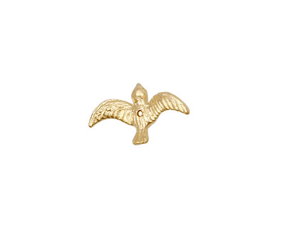 Ezel Findings Gold (plated) Flying Bird 4x10mm