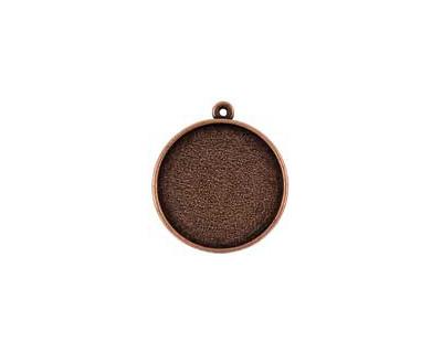 Nunn Design Antique Copper (plated) Double Sided Bezel Pendant 23x27mm