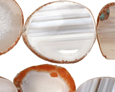 Gray Agate Natural Edge Slices 26-36x22-32mm