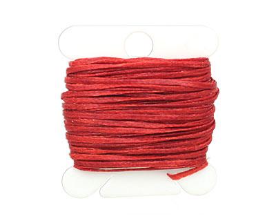 Apple Red Waxed Nylon Flat Braided Cord 1mm