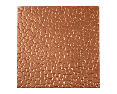 Lillypilly Antique Pebbles Embossed Patina Copper Sheet 3